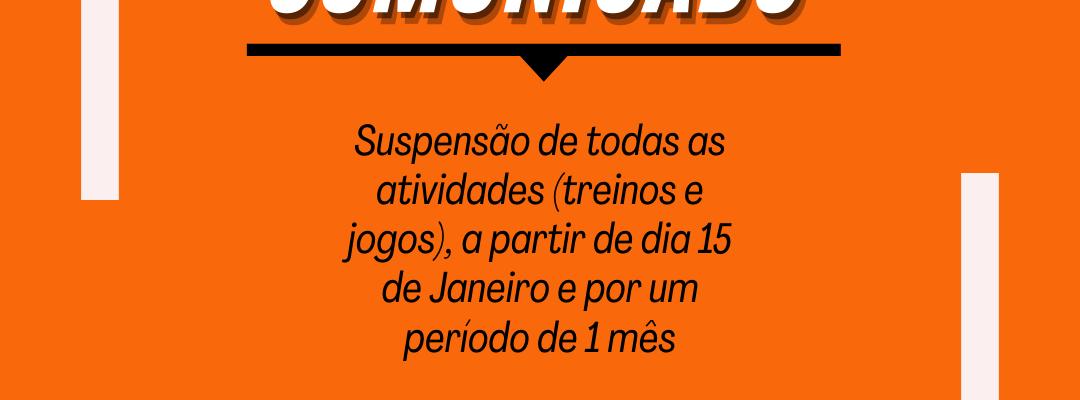 SUSPENSÃO DAS ATIVIDADES A PARTIR DO DIA 15 DE JANEIRO DE 2021