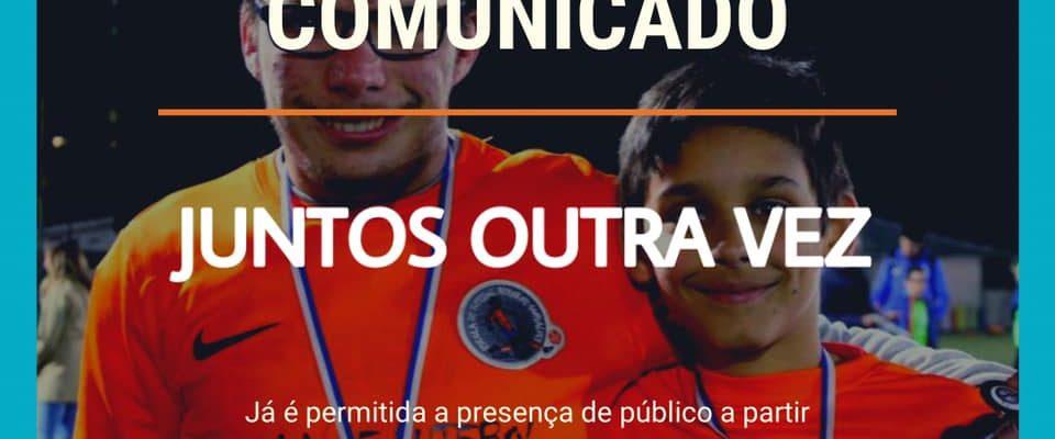 Comunicado – Permitida a presença de Público